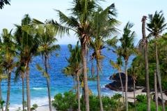 Pohľad na pláž v Padang Bai, pravá exotická dovolenka