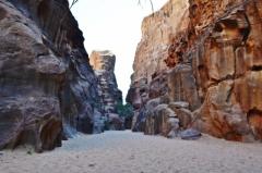 Khazali kaňon, Wadi Rum, Jordánsko