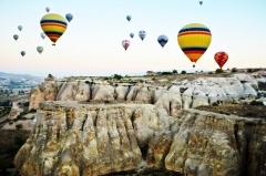 Let balónom nad Kappadokiou