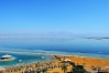Výhľad z hotelovej izby na Mŕtve more