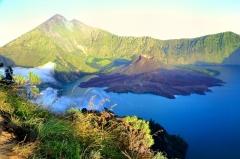 Sopka Rinjani, Lombok, Indonézia