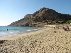 Karpathos, Arkasa, pláž Agios Nikolaos