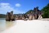 Pláž na ostrove Curieuse