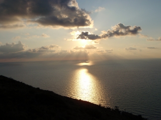Dovolenka Sicília, západ slnka zo Stromboli