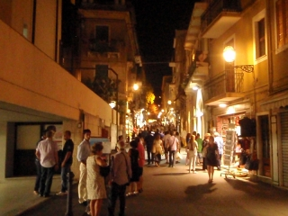 Dovolenka Sicília, večerná Taormina