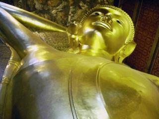 Dovolenka Thajsko, Bangkok, ležiaci Budha