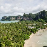 Úžasná dovolenka a scenérie na Railay Bay, Krabi Thajsko
